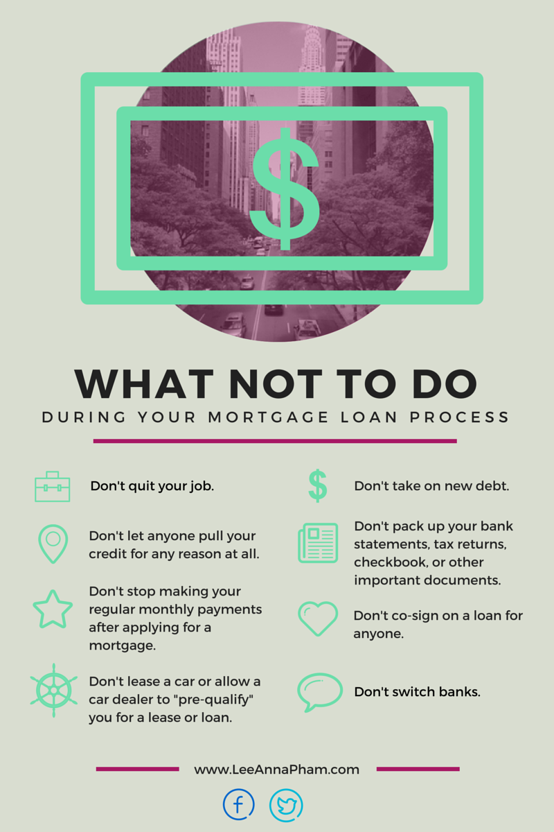 What not to do during loan process